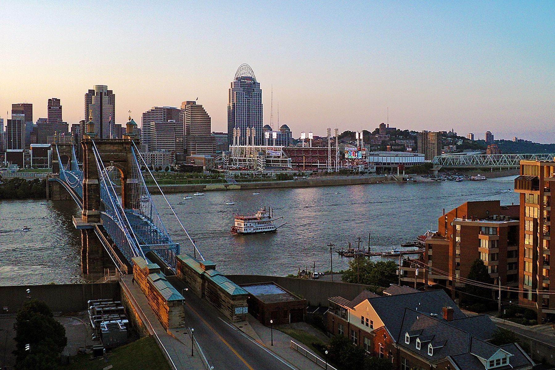 19. Condominiums for Sale at 1 Roebling Way #1105, Covington, KY 41011 1 Roebling Way #1105 Covington, Kentucky 41011 United States